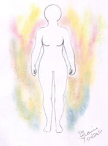 Aura Drawing by Elaine