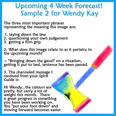 Order the 4 Week Forecast now.