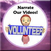 Volunteer to be a Voice on our Videos